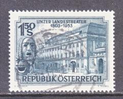 AUSTRIA   589   (o)   THEATER - 1945-.... 2nd Republic