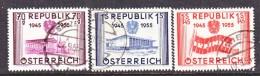 AUSTRIA   599-601   (o)   PARLIAMENT   FLAG - 1945-.... 2nd Republic