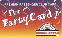 Casino Aztar Caruthersville, MO - Slot Card - Info Phone# (573) 333-1000 Above Mag Stripe (BLANK) - Casino Cards