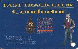 Colo. Central Station Casino Black Hawk, CO - Slot Card - Blackhawk Small Fine Letters (EMBOSSED) - Casino Cards