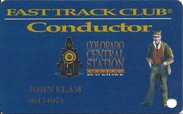 Colo. Central Station Casino Black Hawk, CO - Slot Card - Bold Blackhawk - Black Mag Stripe - Casino Cards