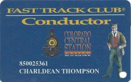 Colo. Central Station Casino Black Hawk, CO - Slot Card - No PPC In Box, Just Text Over Mag Stripe - Casino Cards