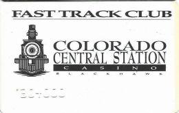 Colo. Central Station Casino Black Hawk, CO - Temporary Slot Card - Casino Cards