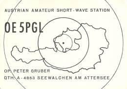 Amateur Radio QSL Card - OE5PGL - Austria - 1975 - 2 Scans - Radio Amateur