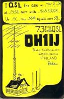 Amateur Radio QSL Card - OH1IJ - Paimio, Finland - 1975 - Radio Amateur