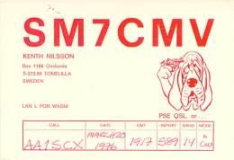 Amateur Radio QSL Card - SM7CMV - Tomelilla, Sweden - 1976 - Radio Amateur