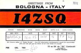 Amateur Radio QSL Card - I4ZSQ - Bologna, Italy - 1975 - Radio Amateur