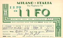 Amateur Radio QSL Card - I1FO - Milano, Italy - 1974 - Radio Amateur