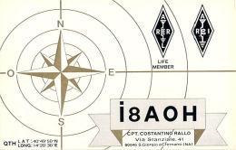 Amateur Radio QSL Card - I8AOH - Cremano, Itlay - 1973 - 2 Scans - Radio Amateur