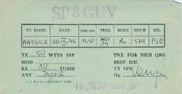 Amateur Radio QSL Card - SP8GUV - Poland - 1976 - Radio Amateur
