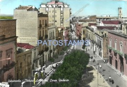 53709 ITALY SPINAZZOLA PUGLIA VIEW AERIAL OF STREET UMBERTO BREAK CIRCULATED TO ARGENTINA POSTAL POSTCARD - Italia