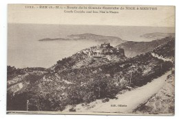 CPA - EZE, ROUTE DE LA GRANDE CORNICHE DE NICE A MENTON - Alpes Maritimes 06 - - Eze