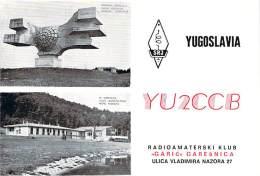 Amateur Radio QSL Card - YU2CCB Radio Club - Yugoslavia - 1976 - 2 Scans - Radio Amateur