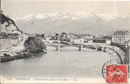 GRENOBLE - 38 -   Panorama Des Quais Et Les Alpes - ENCH0616 - - Grenoble