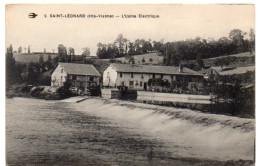 SAINT-LEONARD ( Haute Vienne ) -  L'Usine Electrique -  1920 - Saint Leonard De Noblat