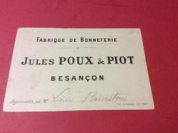 25 BESANCON  Pub Fabrique De Bonneterie Jules POUX  Et PIOT  Village De. Velouté. 22/7/16 - Besancon