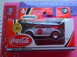 COCA COLA MATTEL WHEELS CONCEPT 1 BEETLE CONVERTI BLE 2001 - Toys