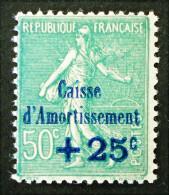 AU PROFIT DE LA CAISSE D'AMORTISSEMENT 1927 - NEUF ** - YT 247 - MI 227 - SURCHARGE BLEUE - France