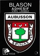 CPM  Dép 23  Blason Adhésif  Aubusson  Non Circulée - Aubusson