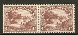 SOUTH AFRICA, 1936  4d BROWN PAIR MH - South Africa (...-1961)