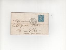LAC 1866 - étoile 1  (Pl. De La Bourse) - Postmark Collection (Covers)