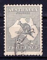 Australia 1915 Kangaroo 2d Grey 2nd Watermark Used - SG 24 - - - 1913-48 Kangaroos