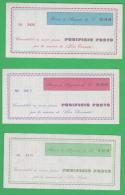 Mestre Buoni Acquisto Panificio Frate 100 + 200 + 300 Lire - [10] Chèques