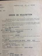 Formulaire De La Préfecture De La Seine : Ordre De Réquisition - Locaux (1946) - Non Classés