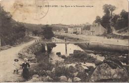 PONT AVEN LES QUAIS ET LA PASSERELLE RUSTIQUE - Pont Aven