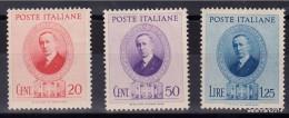 "1938 Italia Regno "" Marconi "" Sas 436/438    MVLH *  CPL - 1900-44 Victor Emmanuel III."