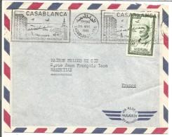 MAROC LETTRE AVION DE CASABLANCA POUR LA FRANCE DU 25/5/1961 - Morocco (1956-...)