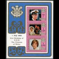 NIUE 1982 - Scott# 356a S/S Diana Birthday MNH - Niue