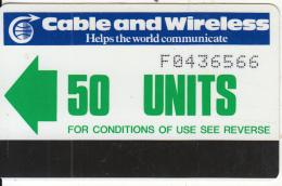 FALKLAND ISL(Autelca) - C & W Logo/Green Arrow, First Issue 50 Units(logo With 7 Bars, Large CN), Used