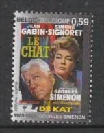"""TIMBRE NEUF DE BELGIQUE - AFFICHE DU FILM """"LE CHAT"""" N° Y&T 3161 - Cinema"""