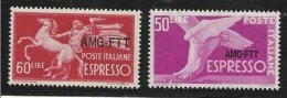 1950+52 Italia Italy Trieste A  ESPRESSO 50L + ESPRESSO 60L MNH** EXPRESS - Express Mail