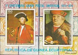Äquatorialguinea Block110 (kompl.Ausg.) Postfrisch 1974 100 Jahre Weltpostverein - Äquatorial-Guinea