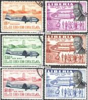 Liberia 505-510 (kompl.Ausg.) Gestempelt 1957 Erstflug Robertsfield - New York - Liberia