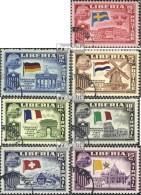 Liberia 518-524 (kompl.Ausg.) Gestempelt 1958 Präsident Tubman In Europa - Liberia