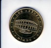Jeton Médaille Monnaie De Paris MDP Les Arênes De Nimes 2016 Revers Anniversaire Gard - 2016