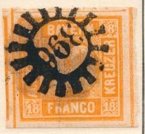 GERMAN STATES - BAVARIA/BAYERN - 1854 - Mi 7 - 18 KREUZER - Bavaria