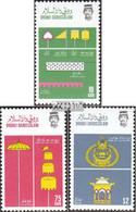 Brunei 346-348 (kompl.Ausg.) Postfrisch 1986 Königliche Insignien - Brunei (1984-...)