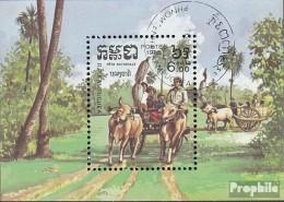 Kambodscha Block141 (kompl.Ausg.) Gestempelt 1985 Nationalfeiertag - Kambodscha
