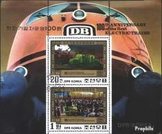 Nord-Korea 2068-2069 Kleinbogen (kompl.Ausg.) Gestempelt 1980 100 Jahre Elektrische Eisenbahn - Korea, North