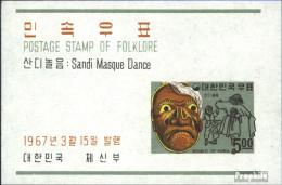 Süd-Korea Block249 (kompl.Ausg.) Postfrisch 1967 Folklore - Korea, South
