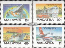 Malaysia 365-368 (kompl.Ausg.) Postfrisch 1987 Kommunikationsentwicklung - Malasia (1964-...)