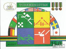 Turkmenistan Block2 (kompl.Ausg.) Postfrisch 1992 Olympische Sommerspiele '92 - Turkmenistan