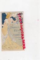 06 - 75- GRASSE -  CARTE PARFUMEE CALENDRIER 1905  PARFUM REVE DE J. GIRAUD - PARIS - ART NOUVEAU FEMME - Grasse