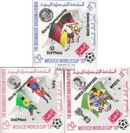 Jemen (Königreich) 1144B-1146B (kompl.Ausg.) Postfrisch 1970 Fußball-WM 70, Mexiko - Yemen
