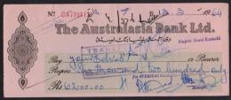 PAKISTAN - The Australasia Bank Ltd, At Karachi, Old Cheque 1964 - Bank & Insurance