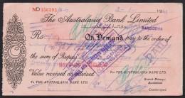 PAKISTAN - The Australasia Bank Ltd, At Sargodha, Old Demand Draft Document 1963 - Bank & Insurance